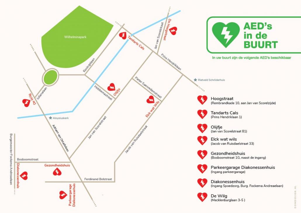 plattegrond-AEDs-utrecht-oost